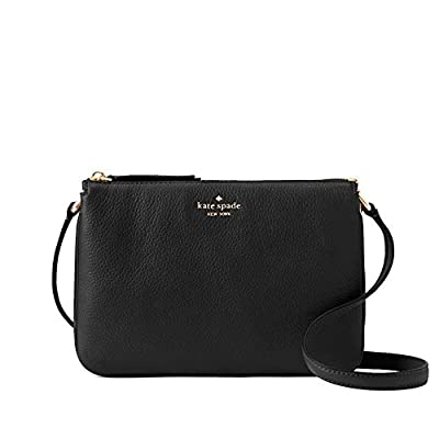 Kate Spade New York Triple Gusset Crossbody, Black