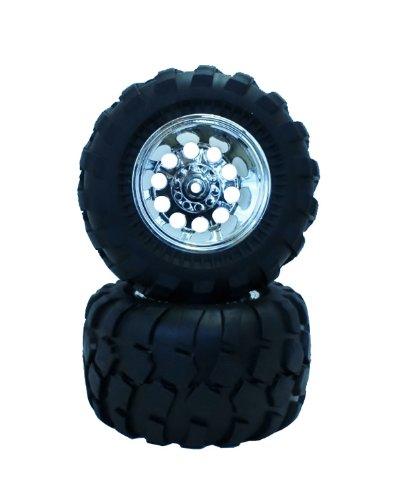 Bloc motif pneu en metal argente ensemble de roues (CW01 arriere pour dejà / adhesif) NO-650M