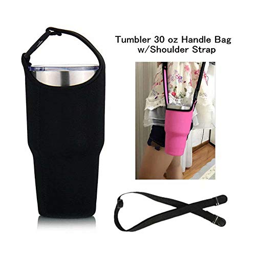 YouZi Tumbler 30 oz Carrier Handle Bag w/Shoulder Strap Fit for Rtic, Atlin, Ozark Trail,YETI Rambler 30 oz Insulated Tumbler Coffee Cup
