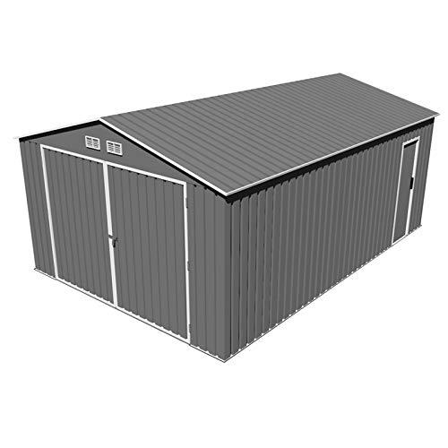 Garaje Metálico Gardiun Oxford (Gris Oscuro) 20, 60 m² Ext