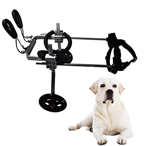 Silla de ruedas ajustable para perros pequeños para patas traseras Soporte para patas traseras para perros Sillas de ruedas para perros y mascotas para rehabilitación de patas traseras, 2 ruedas