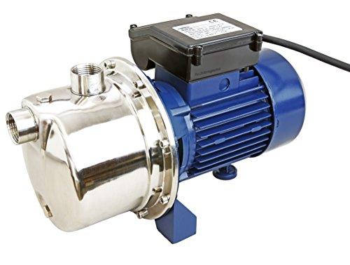 Pro-Lift-Werkzeuge Wasserpumpe 60l/min selbstansaugend Gartenpumpe Edelstahl 750W Bewässerungspumpe 230V Garten Pumpe 45m Förderhöhe