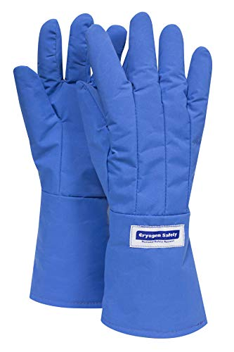 National Safety Apparel G99CRBEPLGMA Nylon Taslan and PTFE Mid-Arm Waterproof Safety Glove, Cryogenic, 14