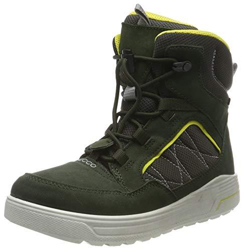 ECCO Jungen URBAN SNOWBOARDER Hohe Sneaker Mid-cut Boot, Grün (Deep Forest/Canary 51640), 34 EU