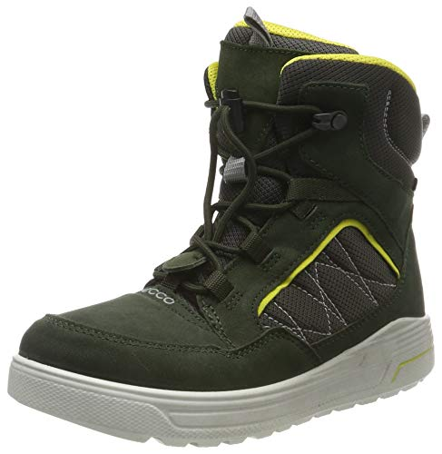 ECCO Unisex-Kinder URBAN Snowboarder Hohe Sneaker, Grün (Deep Forest/Canary 51640), 37 EU