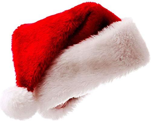 Fablcrew Bonnet Noel Chapeau de Père Noël Adultes Taille Ornements de Noël Chapeau de Noel Rouge