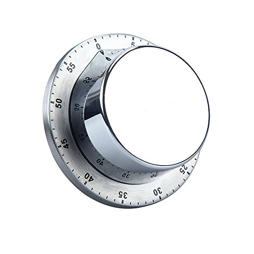 Isuper - Temporizador de Cocina con Alarma magnética de 60 Minutos (1 Unidad)