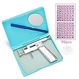 Kstyhome Kit de herramientas de perforación de orejas de acero inoxidable Máquina de perforación de nariz de oreja sin dolor profesional