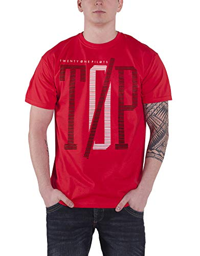 21 Twenty One Pilots T Shirt Top Band Logo Clique Album Official Mens New Red