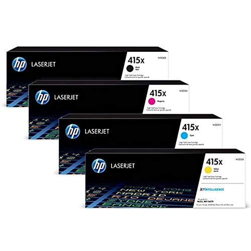 Hp 415x Toner-schwarz, cyan, magenta, gelb 4er set. HP LaserJet Pro M454, M479
