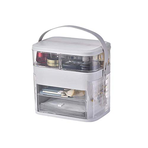 ZWWZ Cosmetic Bag Schwarz Multifunktionale Kosmetik Schmuck Lagerplätze Transparent Make-up Organizer Acryl Schmuckschatulle Schublade Desktop-Organizer-Pink- HAIKE (Color : Pink, Size : Size)
