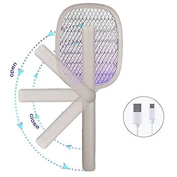 Night Cat Raquette Anti-moustiques Électriques 3000V Mouches Bugs Swatter Lampe de Tueur Bat USB C Rechargeable UV Lumière