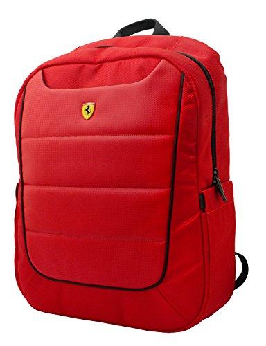"""Ferrari FEBP15RE Scuderia - Mochila (38,1 cm/15""""), color rojo y negro"""