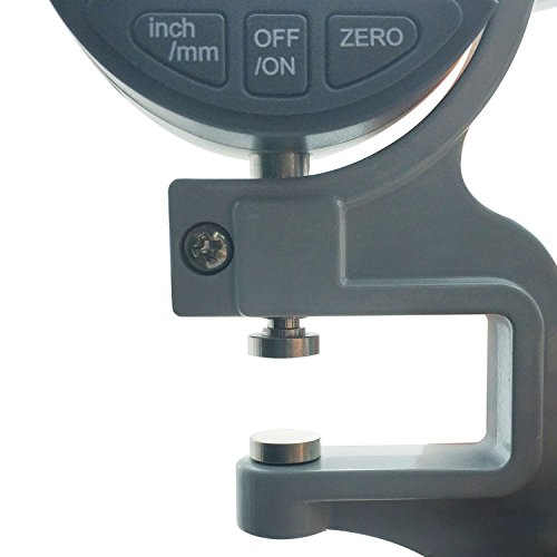 BAOSHISHAN Digital Thickness Gauge 0.00005-0.4 inch | 0.001-10mm Electronic Micrometer Thickness Meter for Paper Film Fabric Tape
