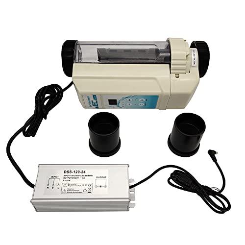 Salt Water Chlorine Generator,Electrolytic Chlorinator,Saltwater Generator Chlorinator Salt Chlorine Generator Cell,Electronic Chlorine Generator for Pool, Hot Tub and Spa (12g/h)