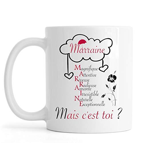 Sublimagecreations mug Marraine, spécial idée Cadeau baptème,