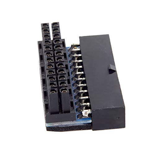 Cablecc ATX 24-Pin Buchse auf 24-Pin Stecker, 90 Grad, Mainboard Motherboard für Desktop-PCs