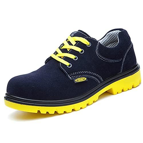 Zapatos de Trabajo Zapatos de Trabajo de Seguridad/Soldador Botas de Soldadura con Tapa de Punta de Acero Protectora, Entrenadores de protección, sitios de construcción y Hombres y Mujeres de la Ind