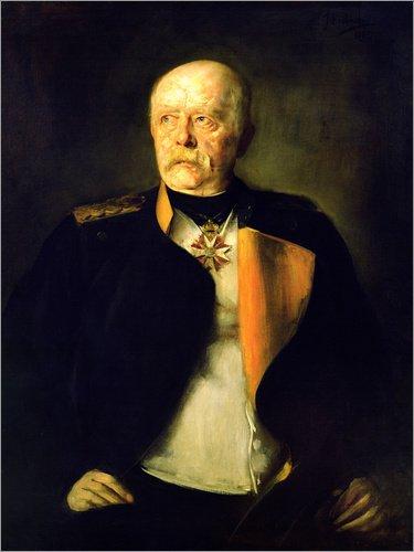 Poster 50 x 70 cm: Otto von Bismarck, c.1890 von Franz von Lenbach/Bridgeman Images - hochwertiger Kunstdruck, neues Kunstposter