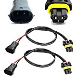 iJDMTOY H11 (H8 or H9) Wire Harness As Xenon Ballast to Stock Socket Xenon Headlight Kit