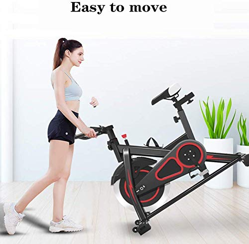 Zhihao Übungs-Fahrrad Radfahren Bike Indoor Cycling Spin-Fahrrad Cardio Fitness Cycle Trainer Herz W/LED-Anzeige Heimtrainer Stationäre Indoor - Schwarz
