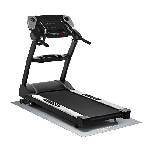 Velotas High Density Personal Fitness Equipment Mats, Protective Flooring Underneath Treadmills, Stationary Bikes and Weight Bench, Multiple Sizes