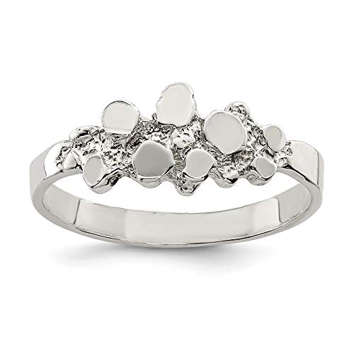925 Sterling Silver Nugget Band Ring Size 7.00 Fine Jewelry For Women Gifts For Her