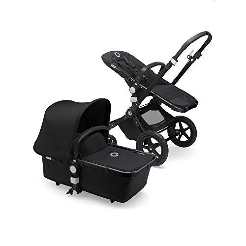 Bugaboo Cameleon 3 Plus: Vielseitiger 2-in-1 Kinderwagen mit drehbarem Lenker für eine komfortable Fahrt, Liegewanne, 0-4 Jahre, schwarzes Fahrgestell & schwarzes Sonnendach