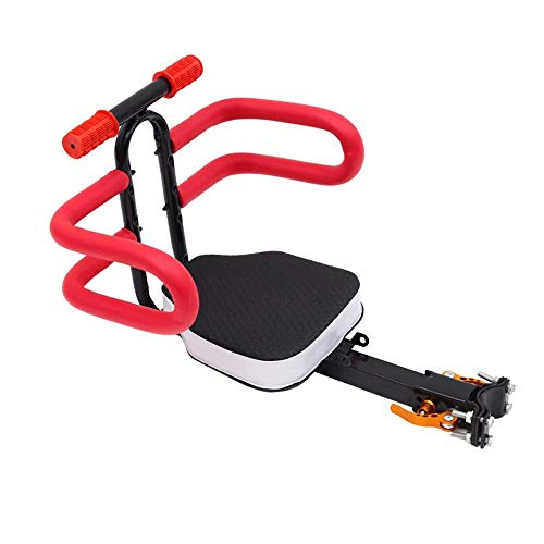 Best Deals! Kids Bike Seat, Quick Release Front Mount Child Bicycle Seat for Child 1 Years to 5 Years with Handle Detachable and Pedal