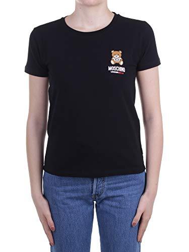 Moschino T Shirt Underwear da Donna Nera