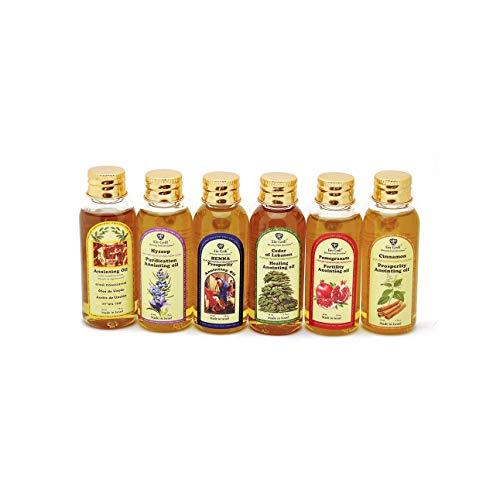Lote de 6 x Diffrent Unción Aceite 30 ml de Holyland Jerusalem