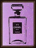 ポスター アーティスト不明 Chanel Purple Urban Chic 額装品 ウッドハイグレードフレーム(オーク)