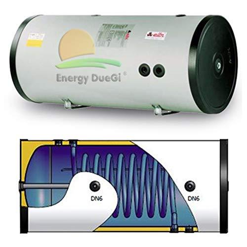 Elbi Bollitore accumulo vetrificato 100 lt, scambiatore fisso per produzione acqua calda sanitaria, installazione verticale od orizzontale, solare termico