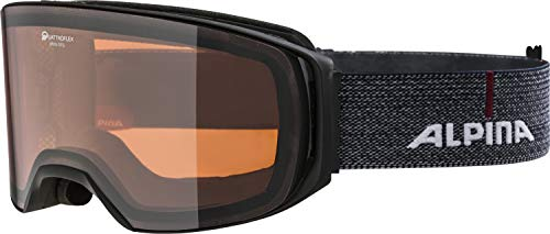 ALPINA ARRIS Skibrille, Unisex– Erwachsene, black-denim, one size