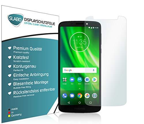Slabo 4 x Bildschirmschutzfolie für Motorola Moto G6 Play Bildschirmfolie Schutzfolie Folie Zubehör Crystal Clear KLAR