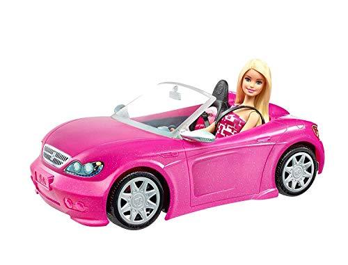 Barbie Voiture Cabriolet Rose décapotable avec deux sièges n