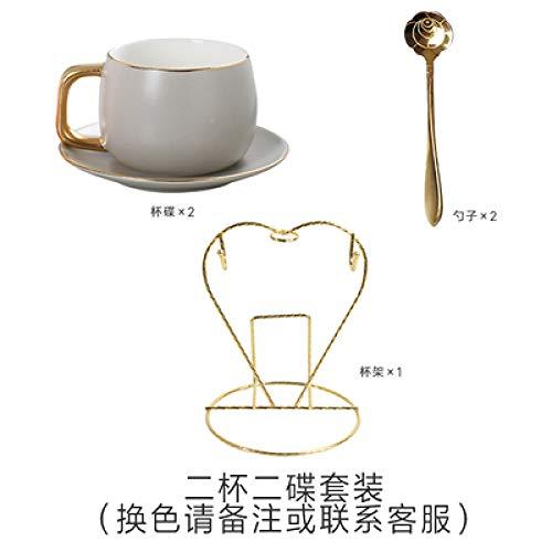 Tasse Anzug Becher Café Hotel Ins nordic Kaffeetassenset Einfaches Büro in Macaron Nachmittagstee Kaffeetasse Mit Löffel Keramiktasse Schwarz 1-teiliges Set
