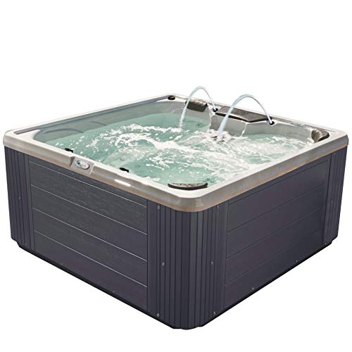 Essential Hot Tubs 30-Jets 2021 Adelaide Hot Tub, Seats 5-6, Gray