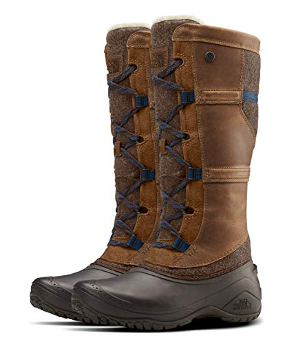 The North Face Shellista IV Tall Winter Boot, Demitasse Brown/Carafe Brown, 5