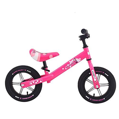 MENGLJ Balance Bike Magnesium Alloy No Pedal Walking Laufrad Für Kinder Und Kleinkinder,Pink