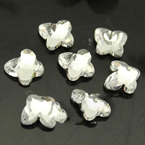 144p lágrima clara/navette/cuadrado Hotfix Plancha sobre plancha de cristal Crystal Rhinestone lágrima/navette/Alta calidad para ropa Boda, forma de mariposa 6x6