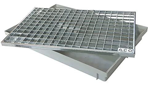 ACO 600x400 Schuhabstreifer Gitterrost mit Bodenwanne Vario Light Schuhabtreter Fußmatte