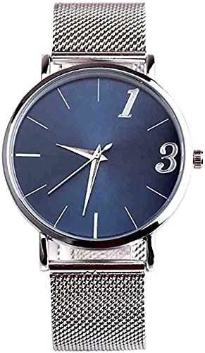 JZDH Mano Reloj Reloj de Pulsera Hombres Negocio diseño Casual Acero Inoxidable Pareja de Cuarzo Reloj de Pulsera Moda Deporte Relojes Decorativos Casuales
