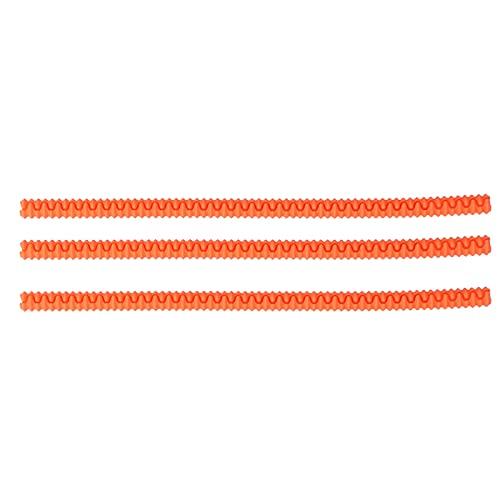Protecteur de grille de four, 3Pcs Couvercle d'étagère de four Protecteur de grille de four anti-brûlure en silicone pour four à micro-ondes(Orange)