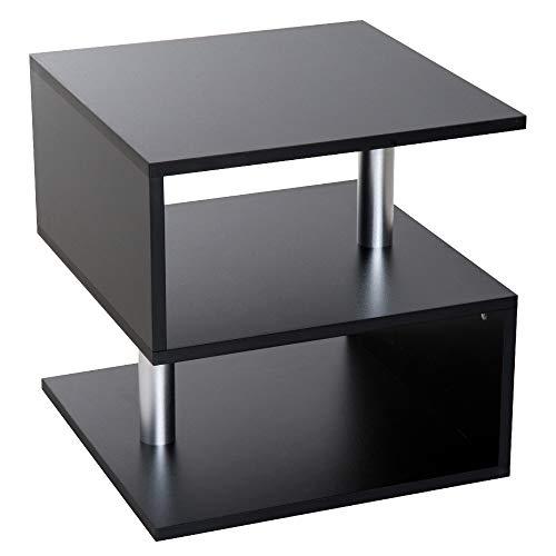 homcom Moderno Tavolino Basso da Salotto in Legno 50 x 50 x 50cm Nero