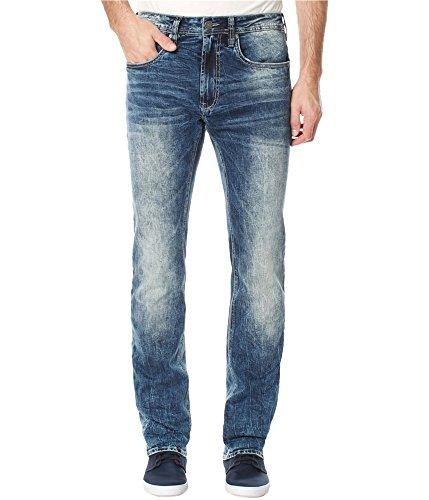 Buffalo David Bitton Men's Ash Skinny Fit Stretch Denim Fashion Jean in 30 Inseam, Veined/Sandblasted, 32 x 32