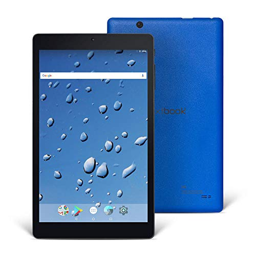 Nextbook Ares 8A (with Cover Case), 8'' Android Tablet, 1280 x 800 HD Display Touch Screen, Quad-Core Processor, 2GB/16GB, Black/Blue, Wi-Fi Tablet, M882AAPC