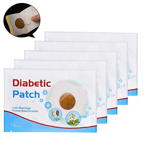 Juanshi 6 Teile/beutel Diabetiker Patch Natürliche Kräuterheilung Blutzuckersenkung Medizinische Pflaster Halten Blutzucker Gleichgewicht Hoher Blutzucker Diabetes Pads