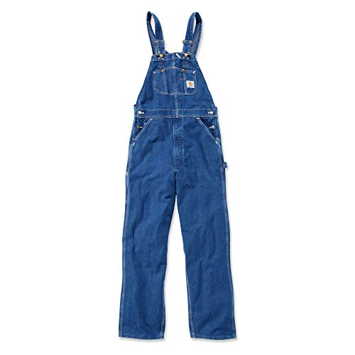 Carhartt R07 Washed Denim Overall - Arbeitsoverall,Darkstone,38W / 36L