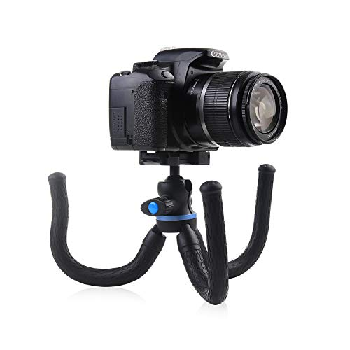 Camera Mobile Tripod with Flexible Legs, Bendable Live Stream Vlogging Tripod with Phone Clamp, DSLR/Smartphone Tripods for Samsung Huawei iPhone Canon Nikon Sony Olympus, by Wapexo